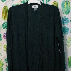 Forest Green cardigan M
